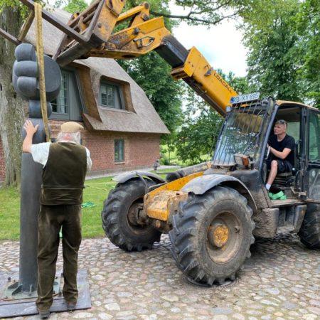 Juni 2021: Aufbau in Bissee